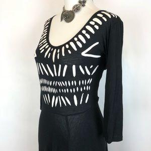 Mary Meyer black & white tribal graphic dress